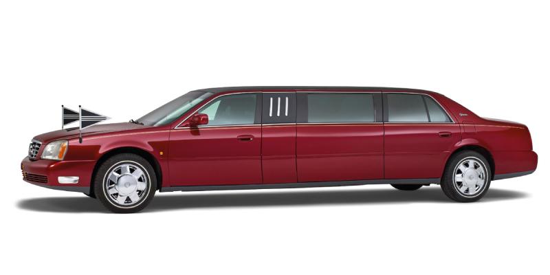 Volgauto's---V-08---Volgauto---Cadillac---7-pers.---Rood---Uitvaart-Midden-Delfland
